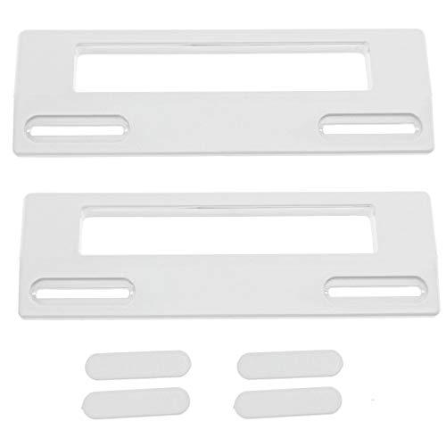 Spares2go - Tirador de puerta para frigorífico Teka (190 mm, 2 unidades), color blanco