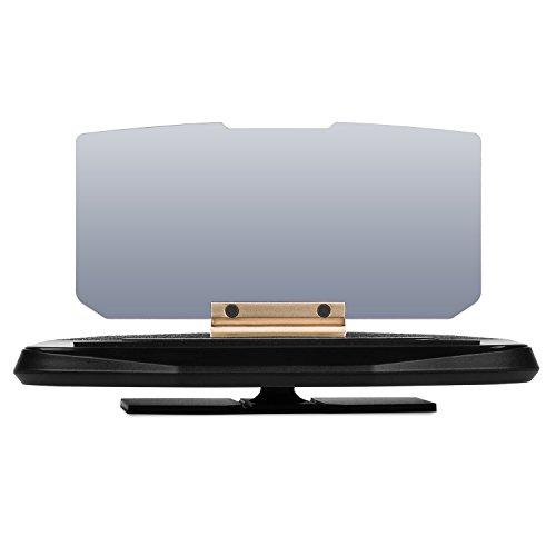 UVISTAR Universal HUD Auto Car Head up Display Reflektor mit Handy-Halterung für Navigation-Anzeigen Kompatibel mit alle Smartphone bis 6,5 Zoll, mit Folien