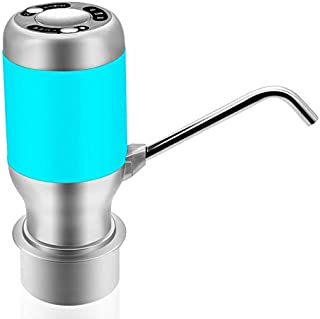 Rechargeable Electrical Automatic Water Pump Top Dispenser for Water Bottle-Blue