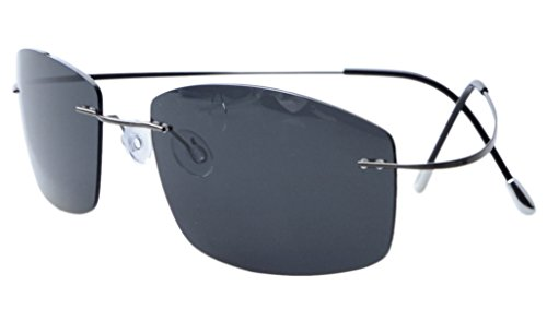 Eyekepper Randlos Titan Rahmen polarisierten Sonnenbrillen Grau Lens