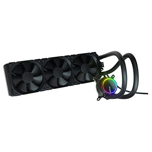 Fractal Design Celsius+ S36 Dynamic X2 PWM Black 360mm, ARGB Pumpe, Silent Performance Slim Radiator AIO CPU Wasserkühlung, Liquid/Water Cooler