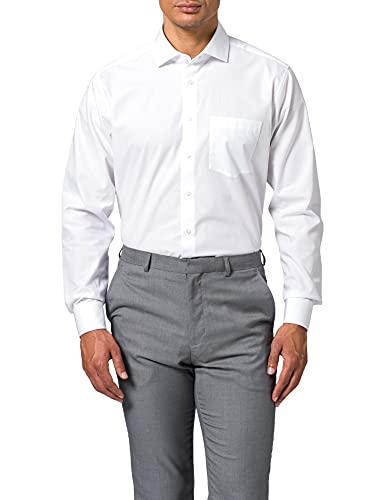 Seidensticker Regular Fit Langarm Popeline Camisa, Blanco, 44 para Hombre