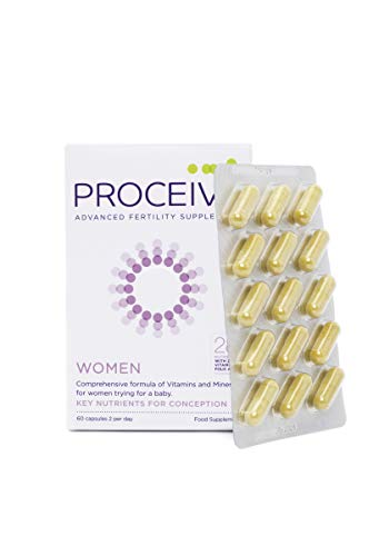 Proceive Advanced Female Fertility Vitamins Supplement | for Women | 60 Tablets