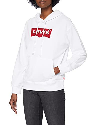 Levi\'s Damen Graphic Standard Sweatshirt, Hoodie Core Batwing II White +, S