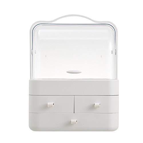 UKKD Makeup Organiser Dust-Proof Desktop Drawer Dresser Rack Portable Cosmetic Storage Box Makeup Organizer Jewelry Box Waterproof Storage Shelf