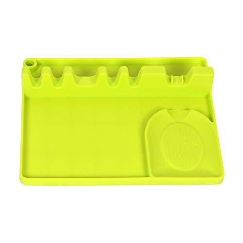 BOMING 2 en 1 cuisine silicone cuillère repos a amélioré la conception de trou de suspension de repos d'ustensiles