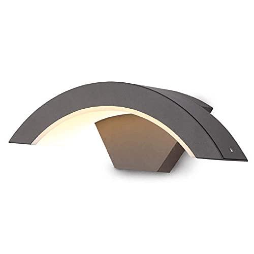 Aplique de pared, aplique de pared para exteriores, iluminación impermeable para porche, accesorios de iluminación modernos de montaje en pared negro mate