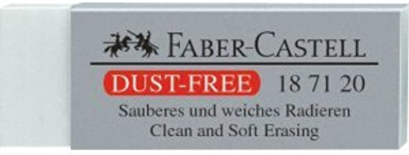blau Prüfungsradierer Dust-free 3 x Faber-Castell Radiergummi