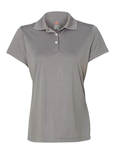Hanes Women's Cool Dri Sportshirt, Medium, Graphite