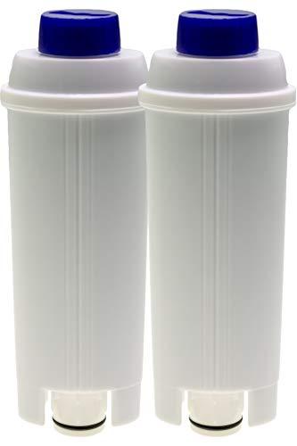 2x Wasserfilter kompatibel mit DeLonghi Kaffeevollautomaten Autentica ECAM23 Dedica Dinamica Eletta ESAM6720 Maestosa Perfecta PrimaDonna Magnifica S, Baugleich zu DLSC002 (14465)