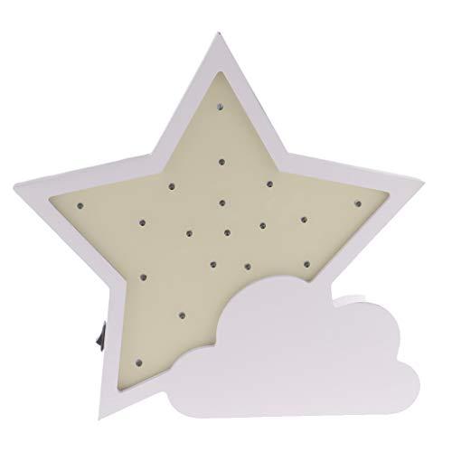 Homyl Lumière De Nuit D'étoile LED 3D Pour Chambre à Coucher D'enfants - Jaune