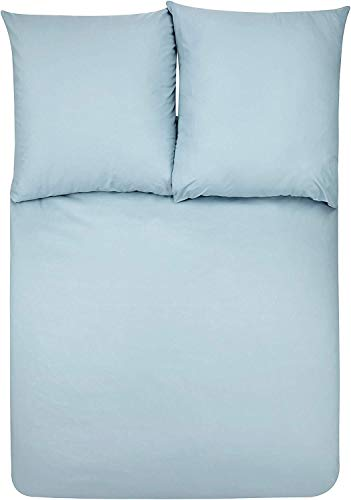 AmazonBasics - Bettwäsche-Set, Mikrofaser, 240 x 220 cm - Spa Blau