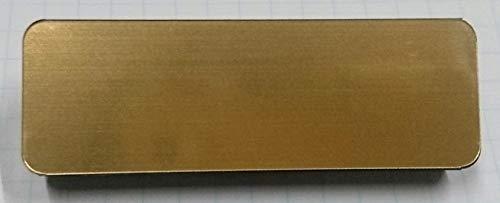 無地ネームプレート(角丸)名札 メタル(金属調)ブランクプレトー.ゴールド メタリック 無地名札 (ゴールド)金 (20×60ミリ)