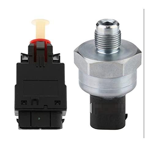 RONGSHU Interruptor del Sensor de presión del Freno con el Nuevo Interruptor de luz de Parada de Freno Adecuado para BMW E31 E32 E34 E36 Z3 61318360417 (Color : Silver Black)