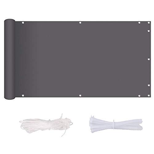 Losxy Tela Toldo BalcóN 90x600cm Impermeable Privacidad Cubierta Resistente con Cuerda de...