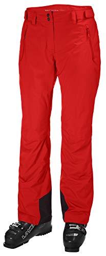 Helly-Hansen Legendary - Pantalón de esquí impermeable con aislamiento para mujer, color rojo