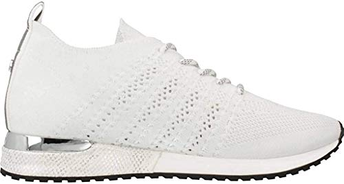 Mujeres Zapatos Planos White Knitted Blanco