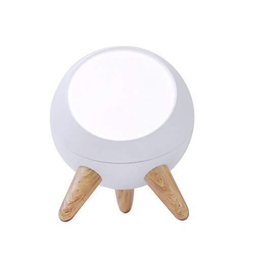 HUSTLE Luz Nocturna Luz De Noche LED Interruptor Tactil Carga USB Detección De Gestos Apariencia Simple para Guardería Lámpara De Mesilla De Noche Táctil Dormitorio Infantil Recargable