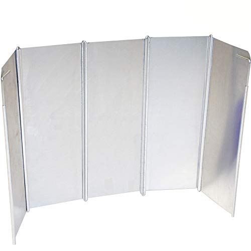 Campingkocher Windschutz aus Aluminium, faltbar, 26 x 49 cm Gaskocher Windscreen Spritzschutz Hitzereflektor