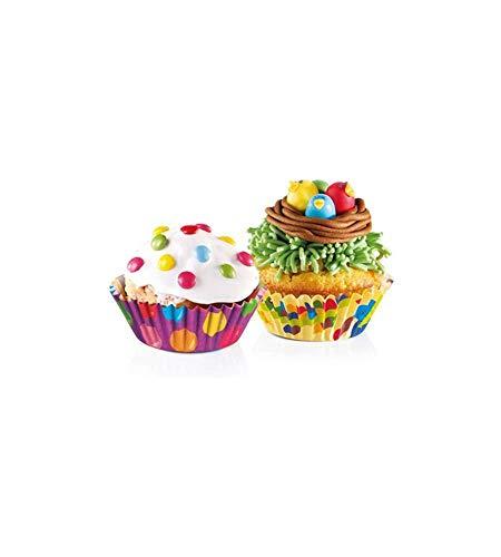 "Tescoma Baking Cups Ø 6 cm, 60 Pcs, for Children ""Delícia"", Assorted, 21 x 11 x 3.2 cm"