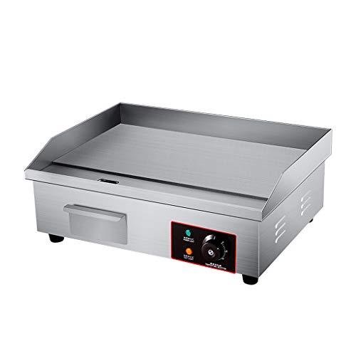 LPGY Plancha Eléctrica 3000W Comercial/Hogar Cocina BBQ Grill Teppanyaki Hot Plate con Bandeja de Goteo y Control De Temperatura, para Interior/Exterior