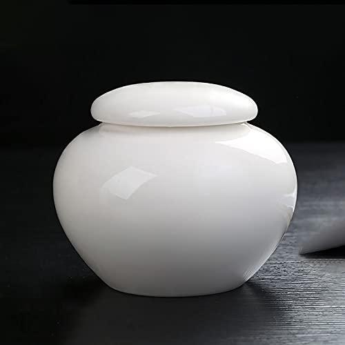 LSQJNDM Urnas De Porcelana Blanca
