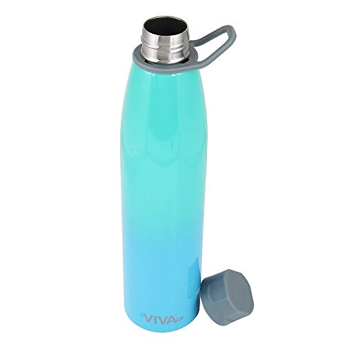 Viva h2oDouble Wall Vacuum Insulated- Stainless Steel Water Bottle Flask (750 Ml),Blue