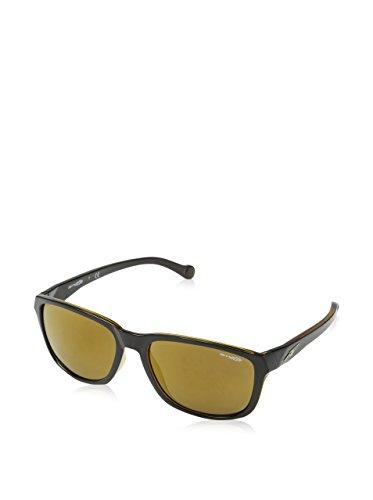 Arnette 0AN Straight Cut 22717D 58 gafas de sol, negro y ámbar, Unisex-Adulto