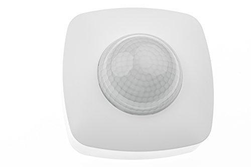 HUBER MOTION 30 Präsenzmelder 360° für Innenbereich, Bewegungsmelder Deckenmontage mit 3 Sensoren und Matrixlinsen, IP20 I 230V, LED geeignet, 3-Draht-Technik