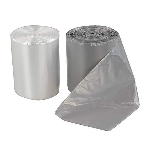Eudokky Bolsas de Basura de plástico 20L, Gris y Transparente, 2 Rollos