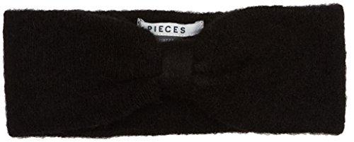 PIECES Pcjosefine Wool Headband Noos Bandeau, Noir (Black Black), Taille unique Femme
