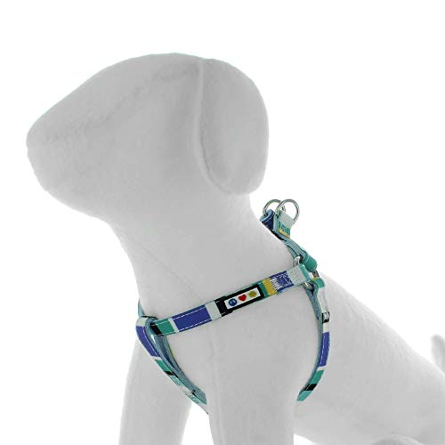 PAWTITAS Stepin Hundegeschirr oder Westegeschirr Ausbildung Ihres Welpengeschirrs Extraklein Blau/Blaugrün/Gelb