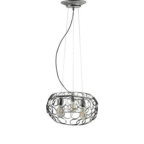 Lustres en fer simples, 3 lumières rétro industrielle LED plafonnier décoratif Cage à oiseaux Antique Creative Magasin de vêtements Bar Allée Table à manger Pendentif Lumière (Design : B)