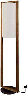Tosel 51276 Lampadaire 1 Lumière, Bois, E27, 40 W, Gris, 35 x 165 cm