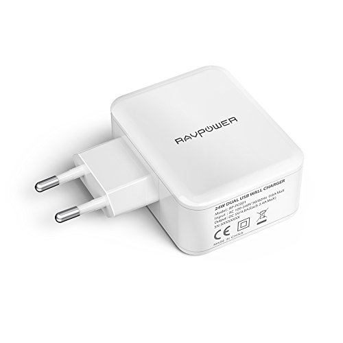 caricabatterie tablet RAVPOWER Caricatore USB da Muro a 2 Porte