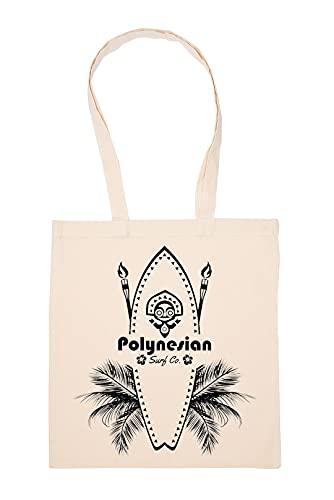 Gunmant Polynesian Surfing Bolsa De Compras Beige Durable Reutilizable Eco Friendly Reusable Shopping Bag
