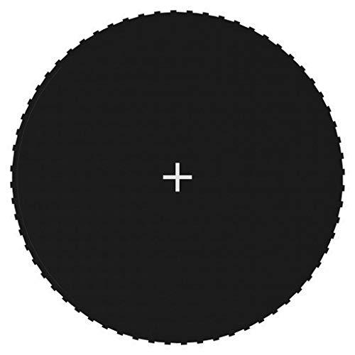 Benkeg Lona de Salto para Cama Elástica Redonda Tela Negro 3,66 M con 64 Ganchos Resistente a Los Rayos UV, al Agua y a La Decoloración