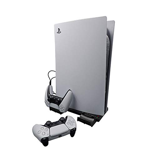 Ladestation für PS5-Controller, Dual-PS5-Controller-Ladegerät, PS5-Controller-Ladegerät, Ladedock für PS5-Controller, PS5-Ladedock für zwei Controller, Dual Fast PS5-Controller