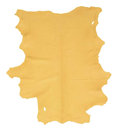 Glacier Wear First Quality Buckskin Leather - Gold (6.00 to 6.75 sq ft)