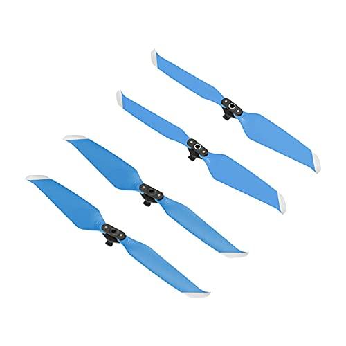 Generic PRO 7238 Elica di Ricambio, a Basso Rumore a Sgancio Rapido Oggetti di Scena, per DJI Mavic Aria 2S Droni - 2 Pair Blu