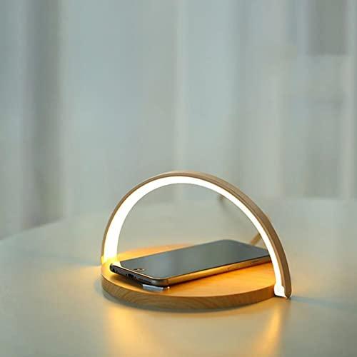 ERGGQAQ Cargador inalámbrico de inducción para teléfono móvil, lámpara de Escritorio LED, Soporte para teléfono móvil con Cargador inalámbrico para teléfono móvil