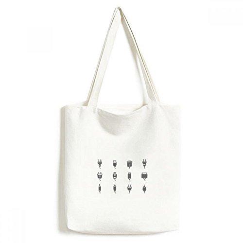 DIYthinker Schaltplan Steckdose Muster Environmentally Waschbar Einkaufs-Tasche Fertigkeit-Geschenk 33 * 40cm Mehrfarbig