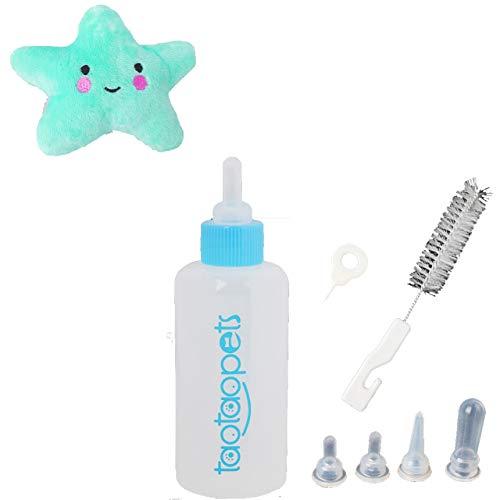 Slosy Kit biberón para Cachorros + Juguete Perros Gatos Conejos biberones Recien Nacido Bebes Accesorios Mascotas Limpieza Productos Animales pequeños Bebedero tetinas Cepillo Lactancia