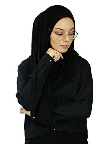 Hijab - Pañuelo para mujer musulmana con aberturas para gafas
