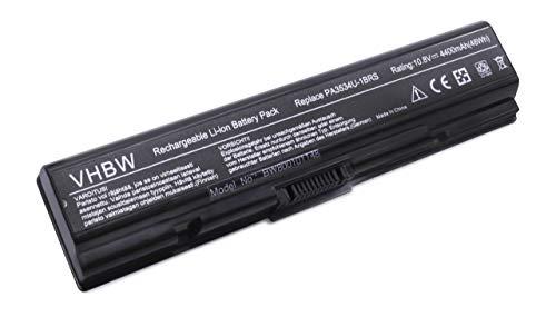 Batterie LI-ION 4400mAh 10.8V Noire/Black pour Toshiba Satellite L550, L555, L555D, L 550 555 555D D, M200, M205, M 200 205