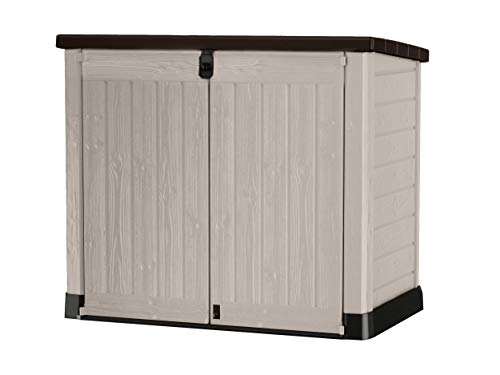 Keter Store It Out Pro Outdoor Storage Shed, 145.5 x 82 x 123cm Beige/Brown