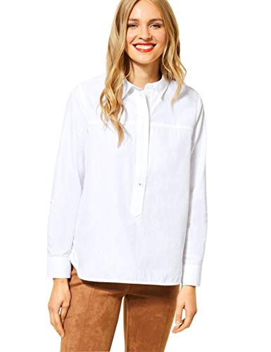 Street One Damen 342287 Bluse, White, 42