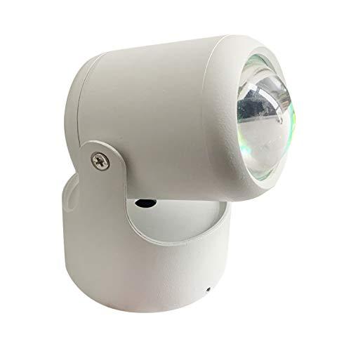 Fenteer Luces de proyector románticas, lámpara de noche USB Decoración luz atmósfera cafetería tienda dormitorio Fondo fiesta decoración de pared - Arco iris