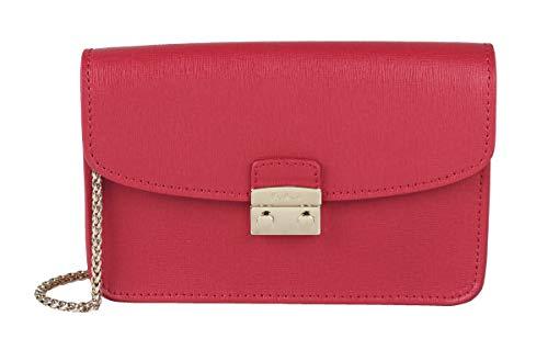 FURLA 883434 AIR Giulia - Borsa in pelle, edizione limitata, colore: Rosso rubino : altezza 11 x larghezza 18 x profondità 4 cm