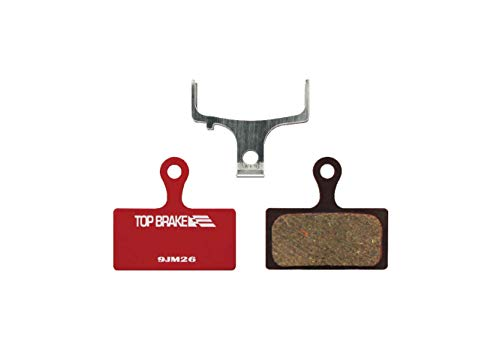 Top Brake Bike pastiglie per Shimano XTR m9000 / 9020/985/987, deore xt m785 / m8000 Piatto Monte (e-Power Bike Stop, Organic Resina compond) (performane Resina Organica Composto-Red)